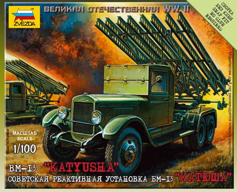 Zvezda Military 1/100 WWII BM13 Katyusha Rocket Launcher Kit
