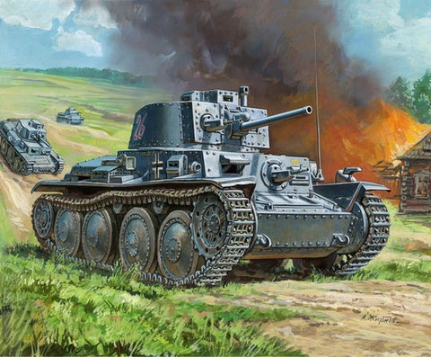 Zvezda Military 1/100 PzKpfw 38(t) Light Tank Kit