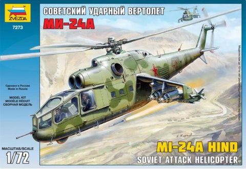 Zvezda Aircraft 1/72 Mi24A Hind Attack Helicopter Kit