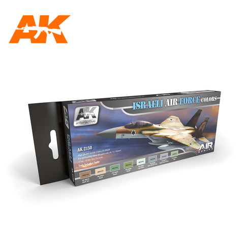 AK Interactive Air Series: Israeli Air Force Acrylic Paint Set (8 Colors) 17ml Bottles