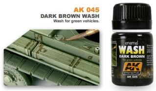 AK Interactive Dark Brown Wash Enamel Paint 35ml Bottle