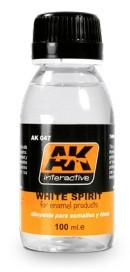 AK Interactive White Spirit Enamel Thinner 100ml Bottle