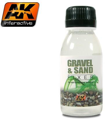AK Interactive Gravel & Sand Fixer Enamel 100ml Bottle