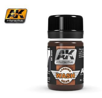 AK Interactive Air Series: Landing Gear Enamel Wash 35ml Bottle