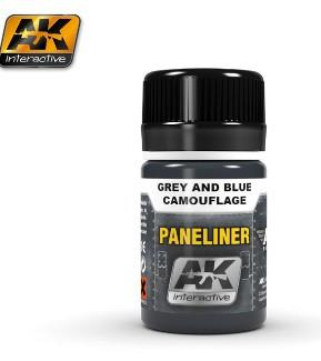 AK Interactive Air Series: Panel Liner Grey & Blue Camouflage Enamel Paint 35ml Bottle