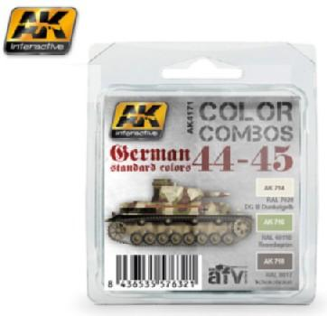 AK Interactive Color Combos: German Standard 44-45 Acrylic Paint Set (3 Colors) 17ml Bottles