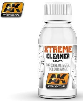 AK Interactive Xtreme Cleaner for Xtreme Metal Color Range 100ml Bottle