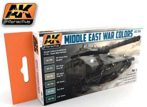 AK Interactive Middle East War Vol.1 Acrylic Paint Set (6 Colors) 17ml Bottles