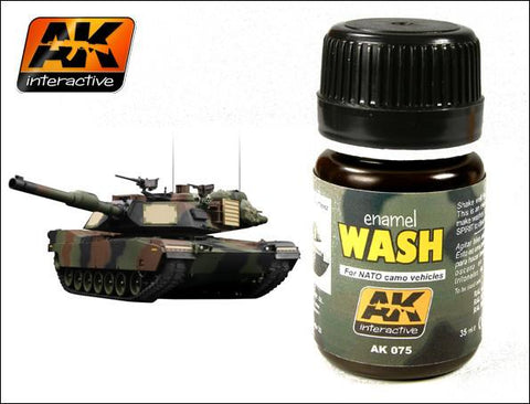 AK Interactive NATO Vehicle Wash Enamel Paint 35ml Bottle