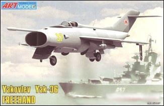 Art Model Aircraft 1/72 Yak36b Freehand Soviet Fighter Kit