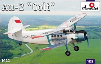 This is an A Model From Russia 1/144 Antonov An2 Colt Multipurpose STOL Aircraft Kit