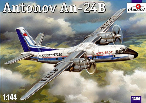 A Model From Russia 1/144 Antonov An24B Passenger Airliner Kit