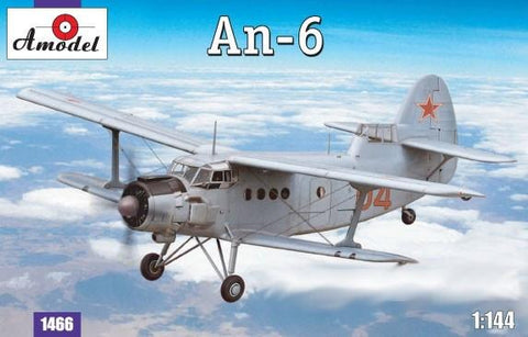 A Model From Russia 1/144 Antonov An6 Recon Aircraft Kit