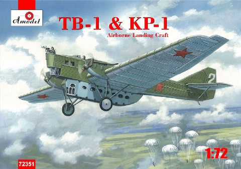 A Model From Russia 1/72 TB1/KP1 Soviet Airborne Landing Craft Kit