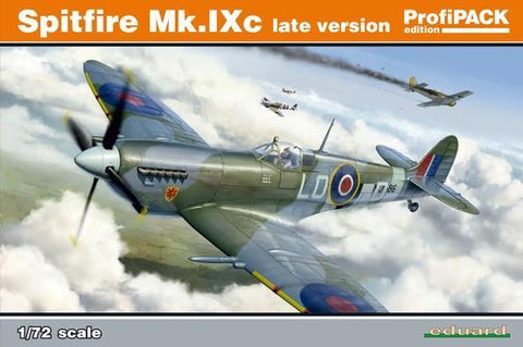 Eduard Aircraft 1/72 Spitfire Mk IXc Late Version Fighter Profi-Pack Kit (Re-Issue)