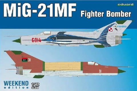 Eduard Aircraft 1/72 MiG21MF Fighter/Bomber Wkd Edition Kit
