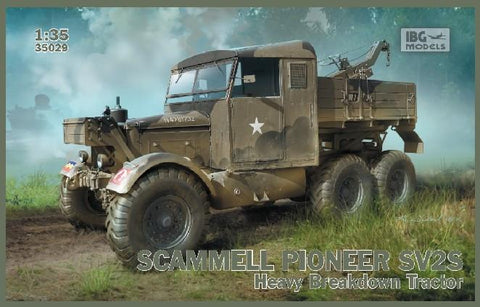 IBG Military Models 1/35 Scammell Pioneer SV2S British Heavy Recovery Tractor (New Tool) Kit