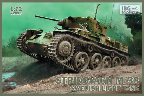 IBG Military Models 1/72 Stridsvagn M38 Swedish Light Tank Kit