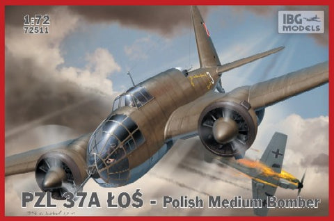 IBG Aircraft 1/72 PZL37A Los Polish Medium Bomber (New Tool) Kit