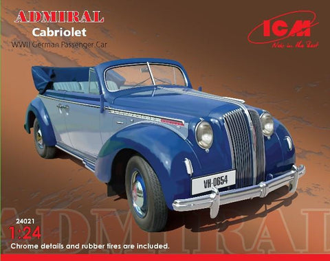 ICM 1/24 WWII German Admiral Convertible Passenger Car Kit