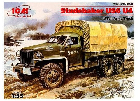 ICM Military Models 1/35 WWII Studebaker US6 U4 Army Truck Kit