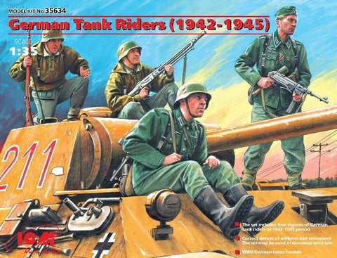 ICM 1/35 German Tank Riders 1942-45 (4) Kit