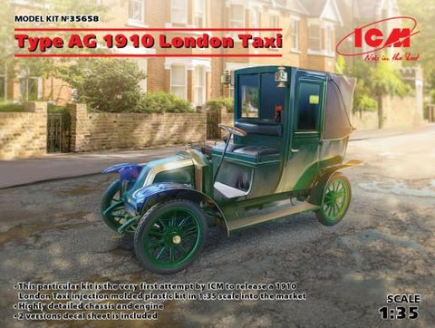ICM Military 1/35 1910 Type AG London Taxi (New Tool) Kit
