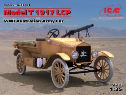 ICM Military 1/35 WWI Australian Model T 1917 LCP Army Car Kit
