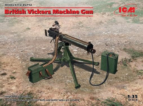 ICM Military 1/35 British Vickers Machine Gun (New Tool) Kit