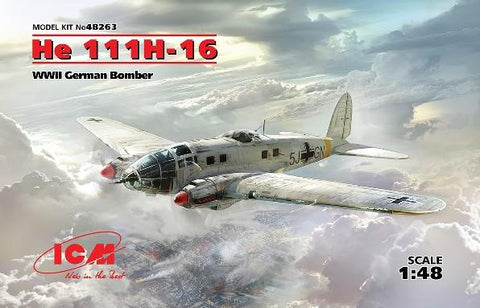ICM Aircraft 1/48 WWII German He111H16 Bomber Kit