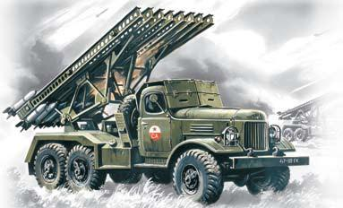 ICM Military Models 1/72 Soviet BM13/16 Katyusha Multiple Rocket Launcher Vehicle Kit