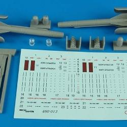 Aerobonus Details 1/48 Ch25MT (AS10 Karen) Air-to-Ground Missile Resin Kit
