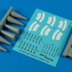 Aerobonus Details 1/48 Aircraft Warning Cones (6) Resin Kit