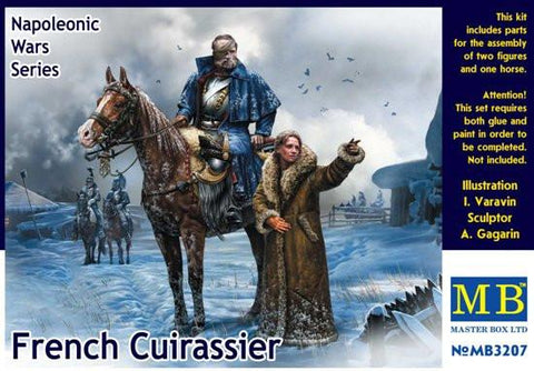 Master Box Ltd 1/32 Napoleonic Wars French Mounted Cuirassier & Russian Girl Winter Dress Kit