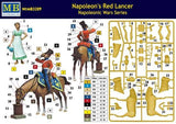 Master Box 1/32 Napoleon's Red Lancer Mounted on Horse w/Maiden Kit