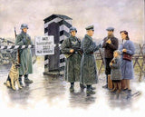 Master Box Ltd 1/35 Checkpoint German Soldiers & Civilians w/Sentry Box (6) Kit