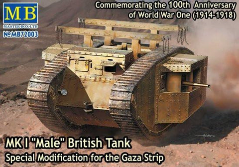 Master Box Ltd 1/72 WWI British Male Mk I Tank Modified for Gaza Strip Kit