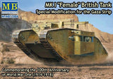 Master Box Ltd 1/72 WWI British Female Mk I Tank Modified for Gaza Strip Kit
