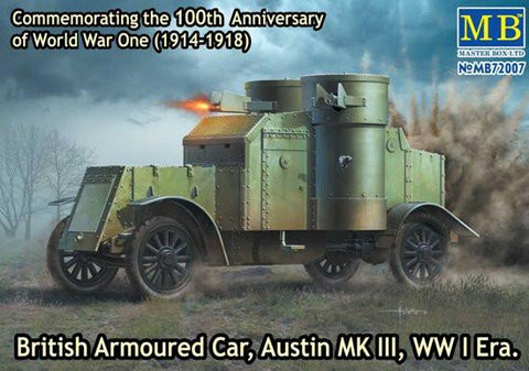 Master Box Ltd 1/72 WWI Austin Mk III British Armored Car Kit