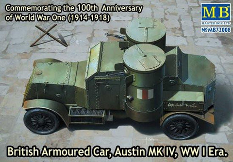 Master Box Ltd 1/72 WWI Austin Mk IV British Armored Car Kit
