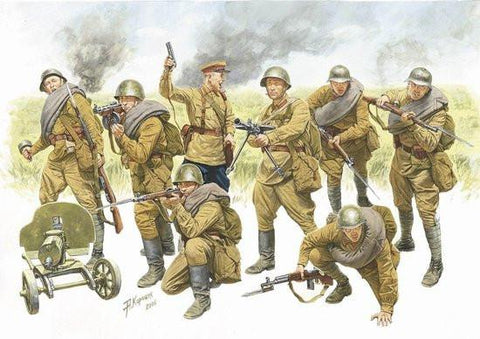 Zvezda 1/35 Red Army Infantry 1940-1942 (8) Kit