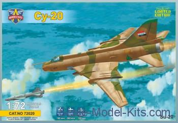 Modelsvit Aircraft 1/72 Sukhoi Su20 Soviet Fighter Ltd. EditionKit