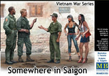 Master Box Ltd 1/35 Somewhere in Saigon US Soldiers (3) & Prostitutes (2) Vietnam War (New Tool) Kit