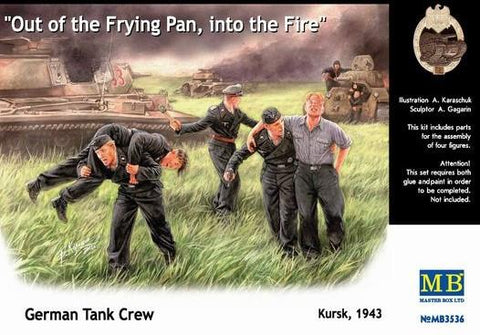 Master Box 1/35 German Tank Crew Kursk 1943 Out of the Frying Pan, into the Fire (5) Kit