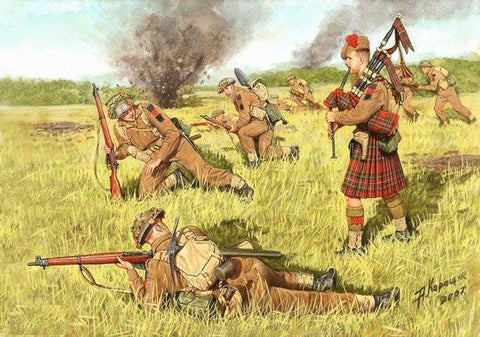 Master Box Ltd 1/35 Scotland the Brave! Commonwealth Infantry (4) Kit