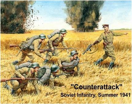 Master Box 1/35 Counterattack Soviet Infantry Summer 1941 (6) Kit