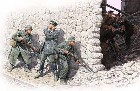 Master Box 1/35 German Mtn Troops & Soviet Marines (6) Kit