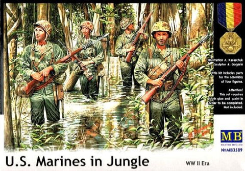 Master Box Ltd 1/35 WWII USMC in Jungle (4) Kit