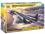 Zvezda Aircraft 1/72 Sukhoi SU57 Fighter (New Tool) Kit