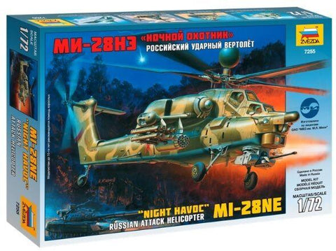 Zvezda Aircraft 1/72 Russian MI28NE Night Havoc Attack Helicopter Kit